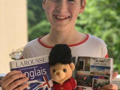 Courbevoie Alfred de Vigny. J'ai eu l'ours en peluche a Londres et l'agenda aussi.