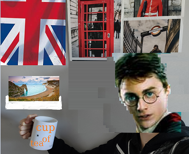 Evron Collège Sacré-Coeur : In all my poor life, I've never won a contest because of my hideous head. I then turned into Harry Potter as I always dreamed of to win this contest while drinking my hot English tea.