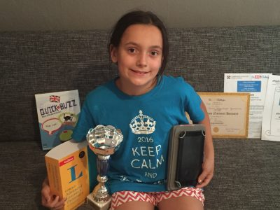 Congratulations to this young national winner of the Big Challenge in Germany!