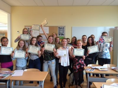 's Gravendreef College Class 2 is proud of their awards.