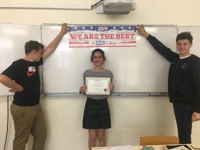 Félicitations à Alycia pour sa deuxième place régionale Classe de 3ème découverte professionnelle au Lycée Jeanne d'Arc de Saint Medard de Guizieres !!!