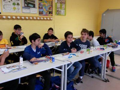 Collège Léonard de Vinci, Bouffémont (95) Les élèves de 6e apprécient leur goûter!