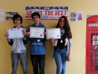Congratulations! 5e - Collège Léonard de Vinci, Bouffémont (95)
