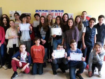 Congratulations to all the 5e students who participated! Collège Léonard de Vinci, Bouffémont (95)