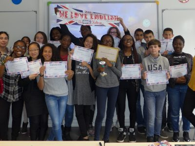 Collège STENDHAL à Fosses (95) - Bravo les 5è ! We are so proud !