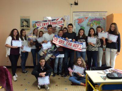 Pour leur dernière année au collège Sainte Marie de Cassagnes-Bégonhès, les 3èmes ont participé avec engouement au concours du Big Challenge. Bonne continuation à eux!