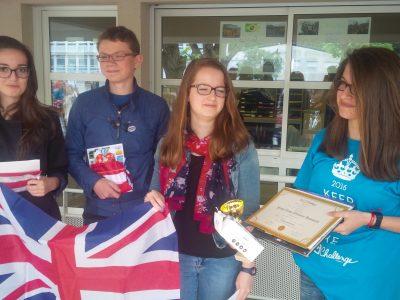 Bravo aux gagnants! Collège St Augustin à Angers