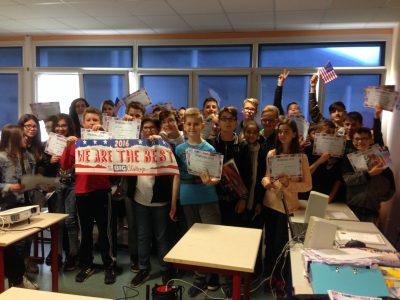 Les 5e du Collège Gabriel Pierné de Sainte Marie Aux Chênes ont participé en nombre !