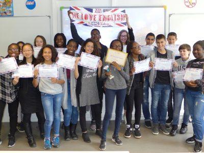 Le collège STENDHAL à Fosses (95) - Bravo les 5è ! Nice results !