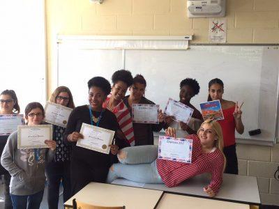 Trappes Lycée Henri Matisse - Nous sommes très contentes d'avoir participé !!!