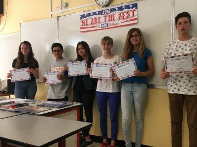 Les 3 emes bleue à l'honneur. Collège Fénelon Toulon.
