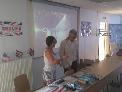 Prize-giving ceremony in Lycée Henri Brulle, Libourne