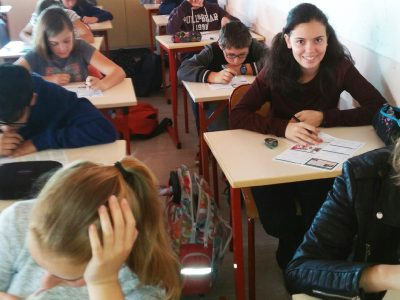 Ce matin. En 5eme bleue. Cours Fenelon Toulon. Ils sont très concentrés.