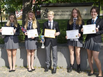 Top students at the Sigtunaskolan Humanistiska Läroverket in Sigtuna